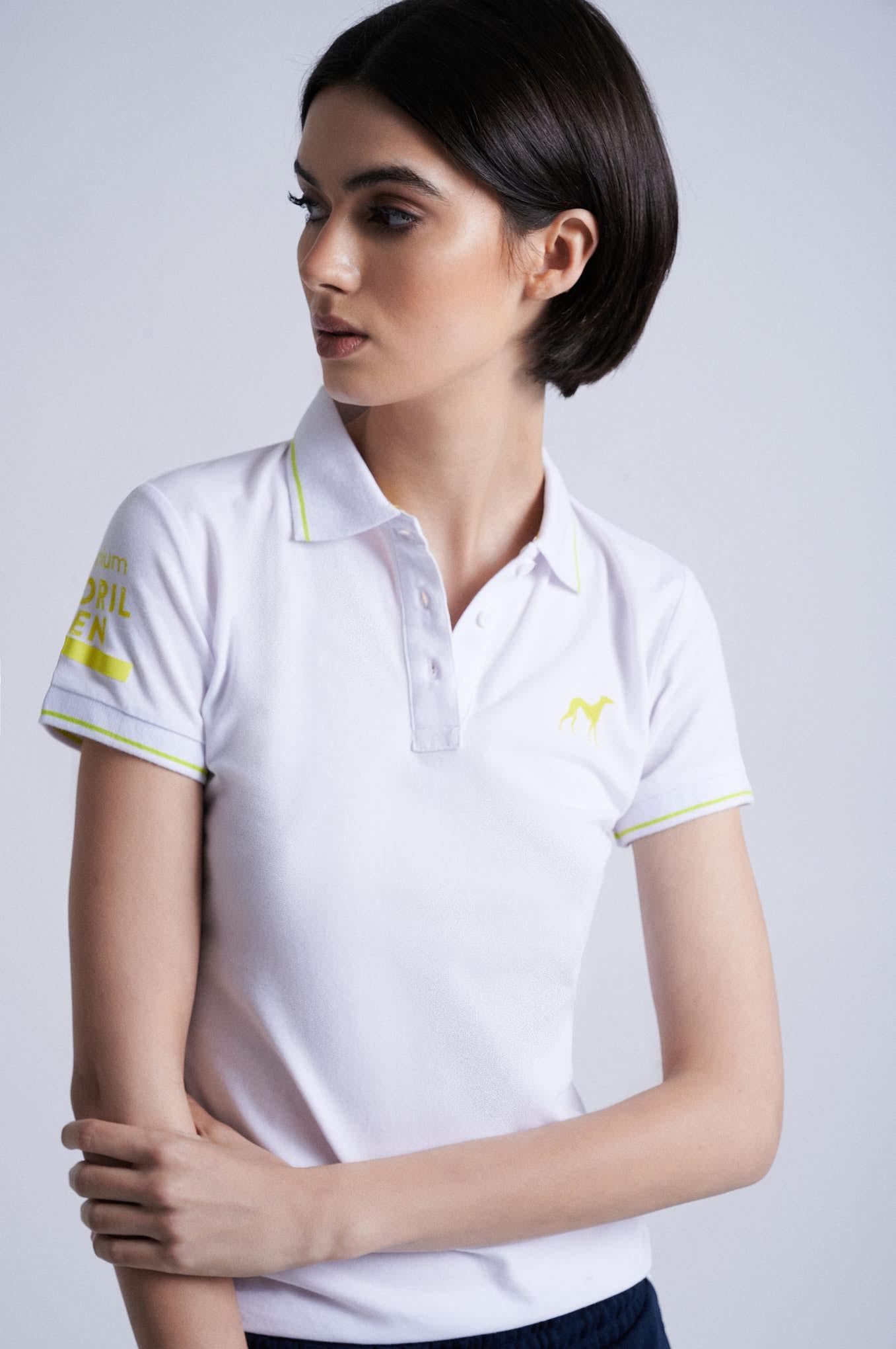 Polo Piquet White Sport Woman