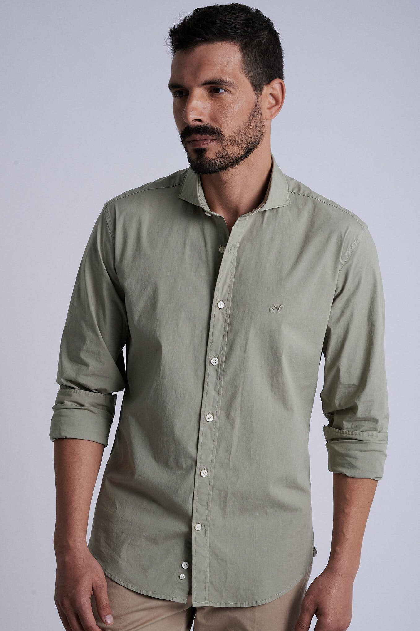 Shirt Khaki Sport Man