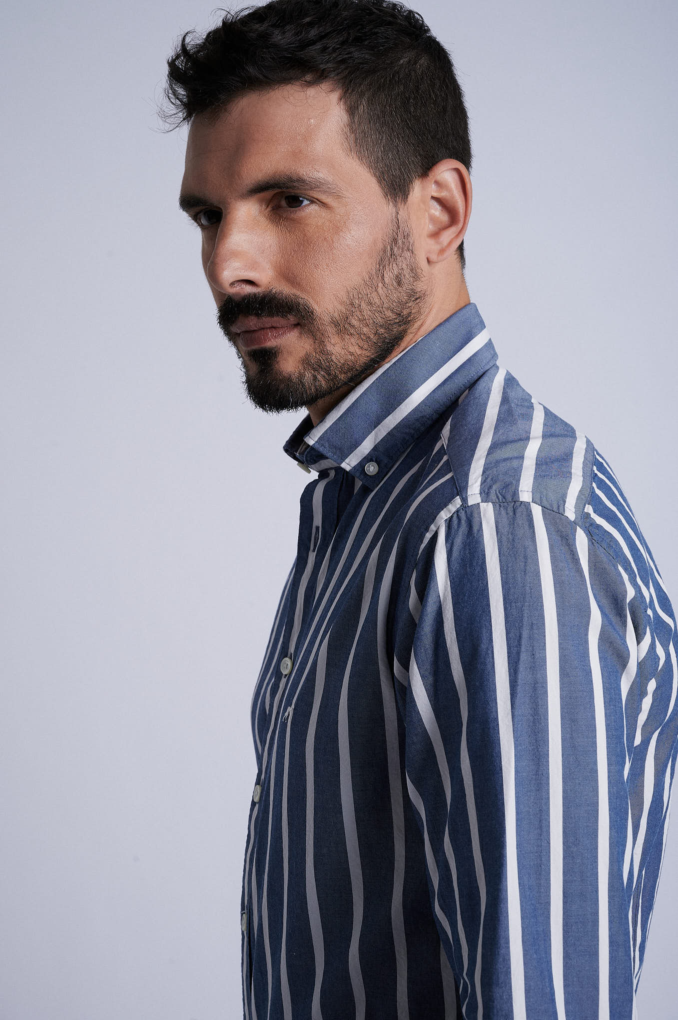 Shirt Dark Blue Sport Man