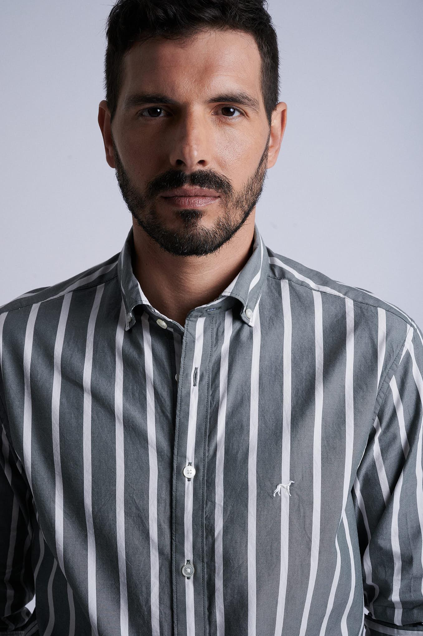 Camisa Cinza Sport Homem
