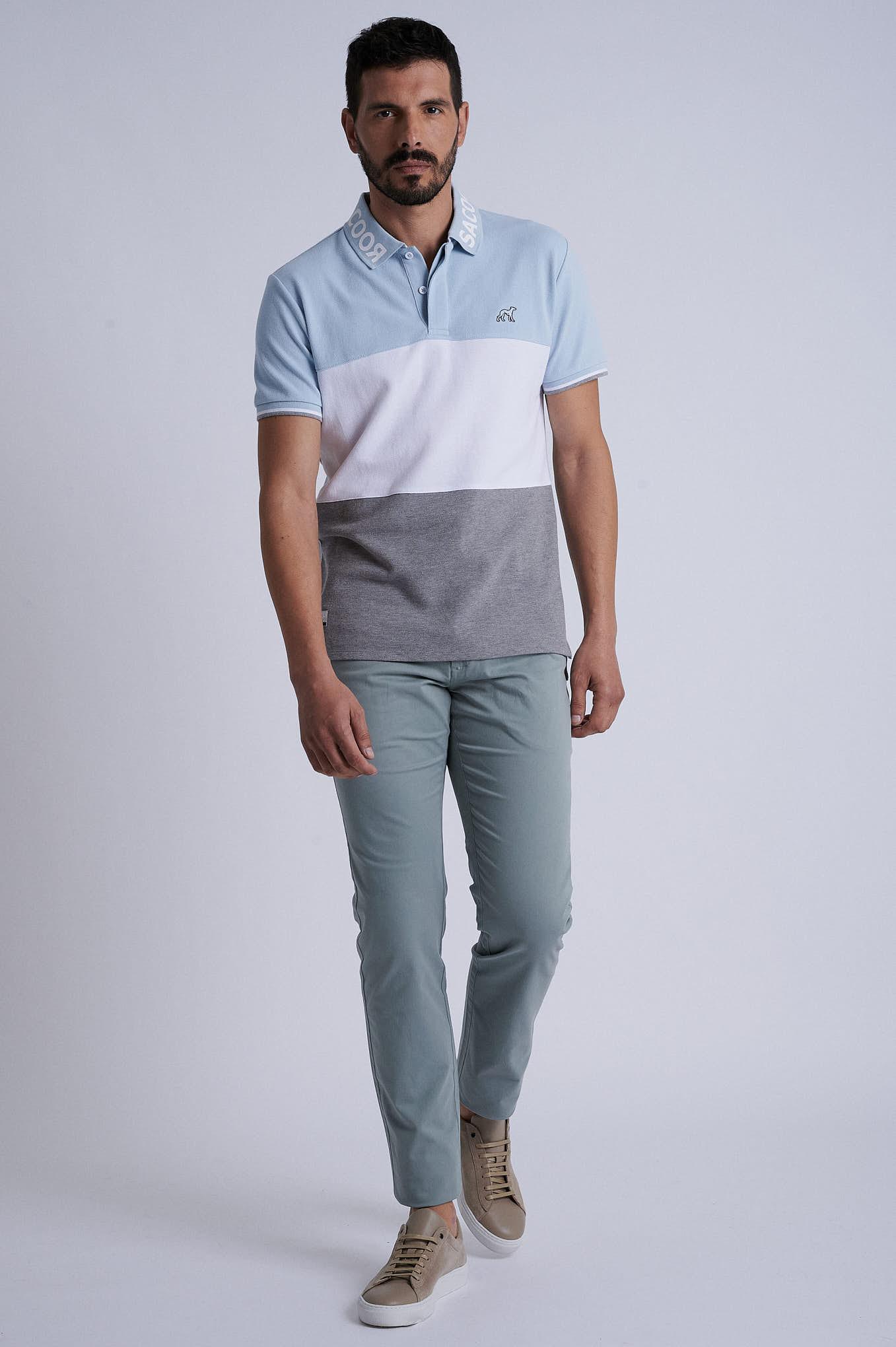 Chino Trousers Green Sport Man