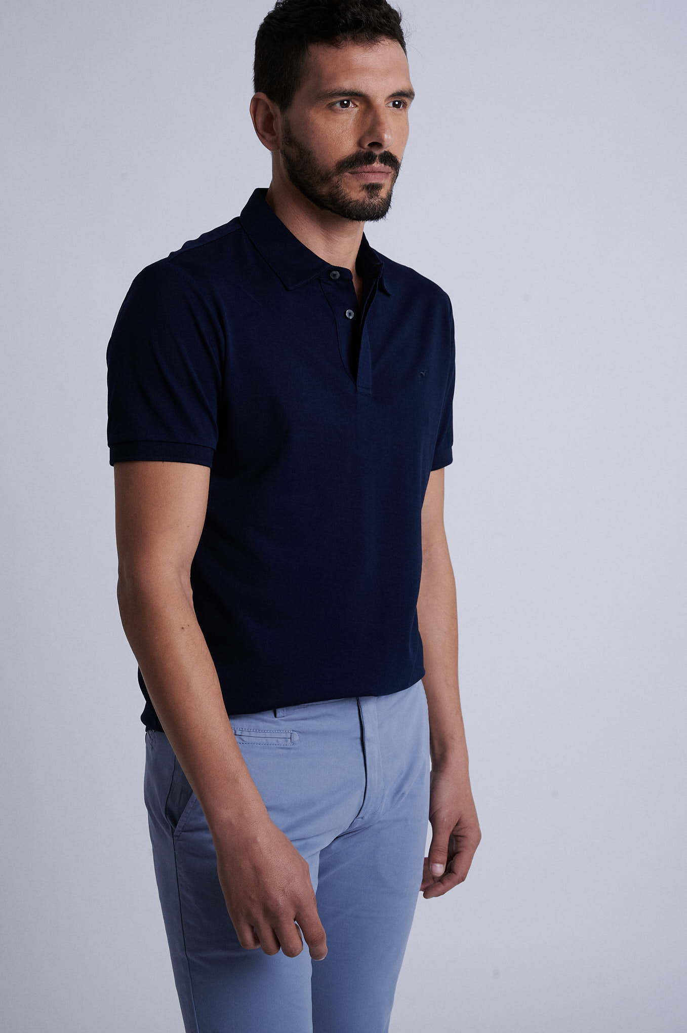 Chino Trousers Medium Blue Sport Man