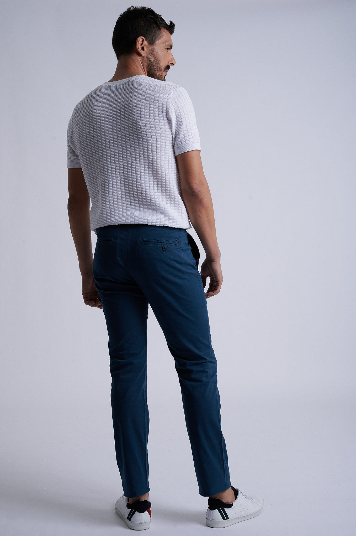Chino Trousers Teal Sport Man