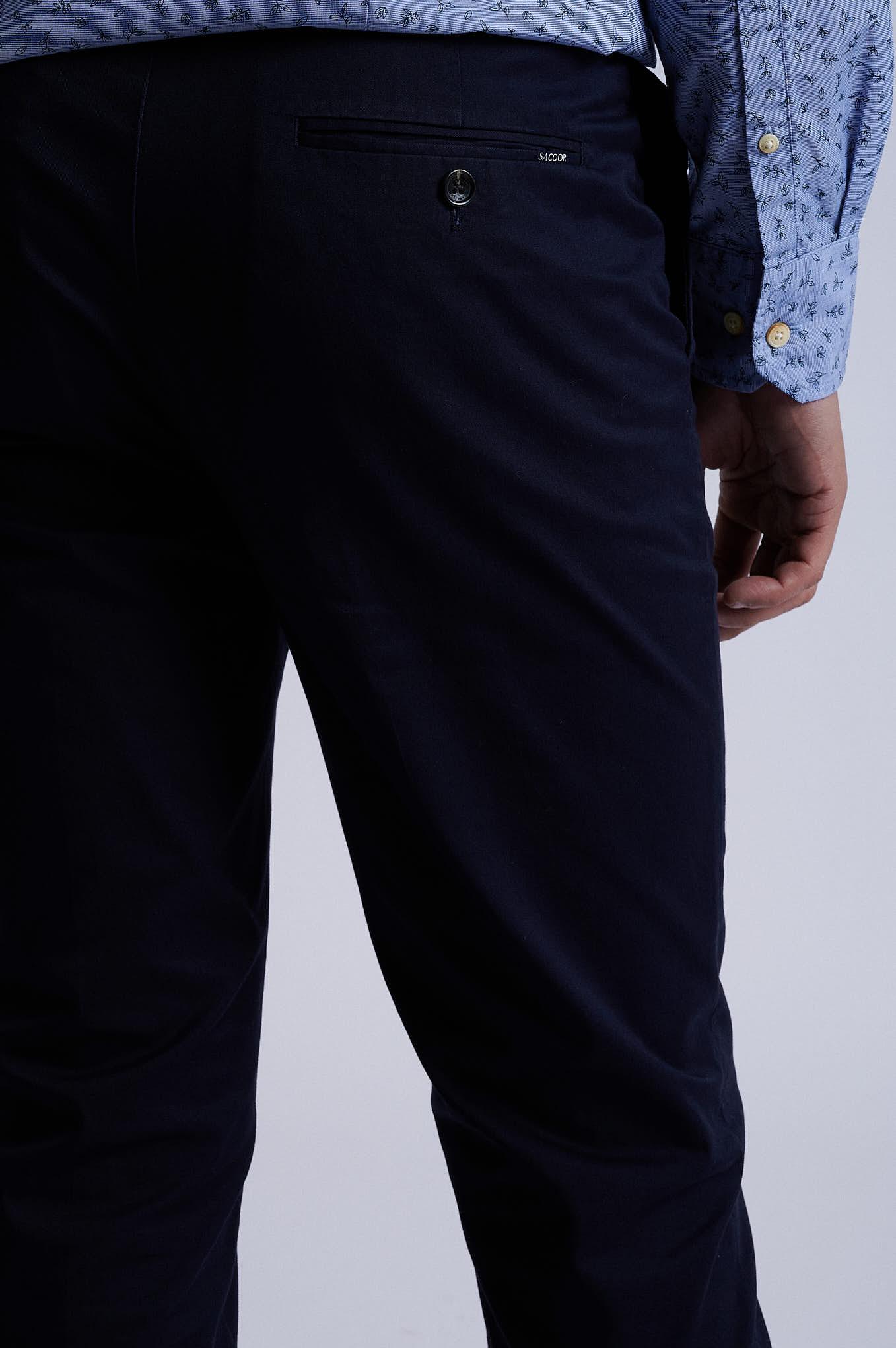 Chino Trousers Dark Blue Sport Man