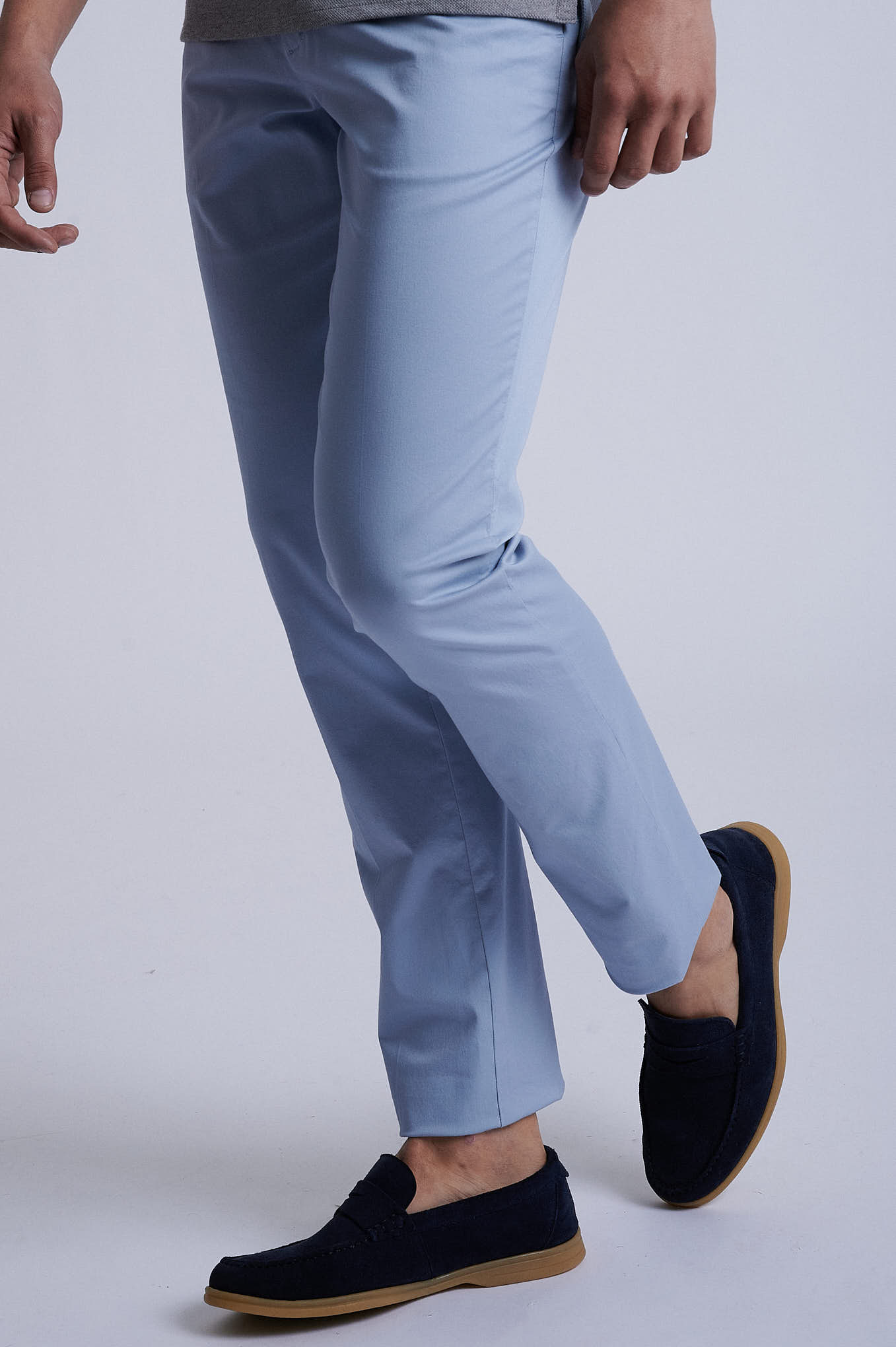 Chino Trousers Light Blue Sport Man