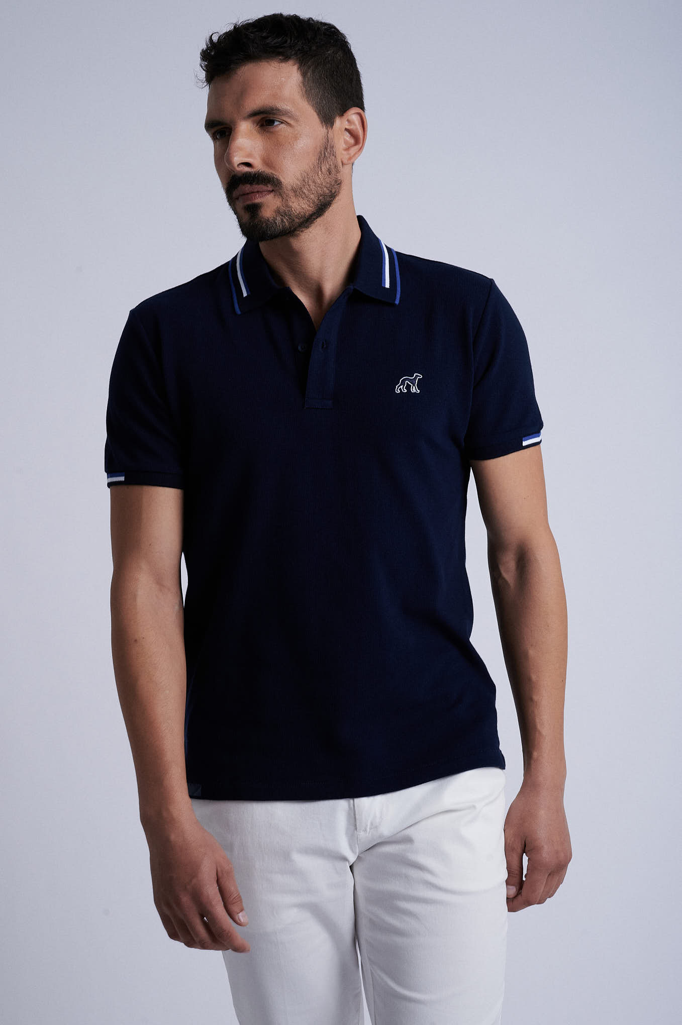 Polo Piquet Dark Blue Sport Man