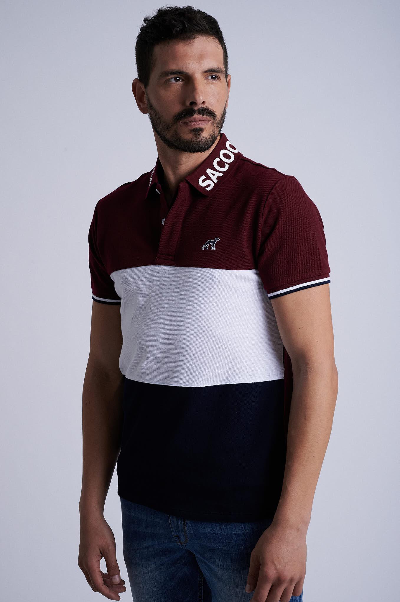 Polo Piquet Bordeaux Sport Man