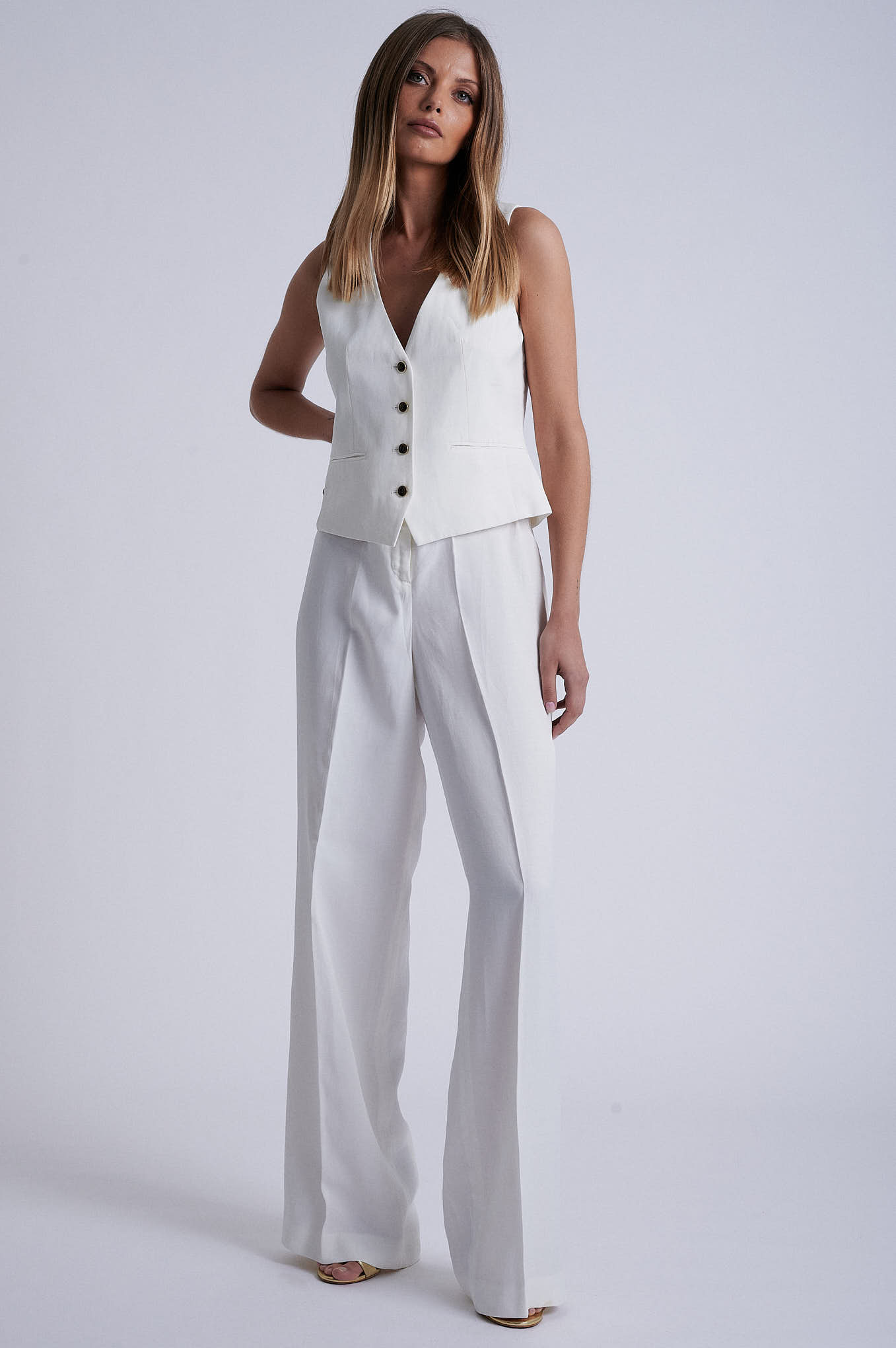 Trousers White Formal Woman