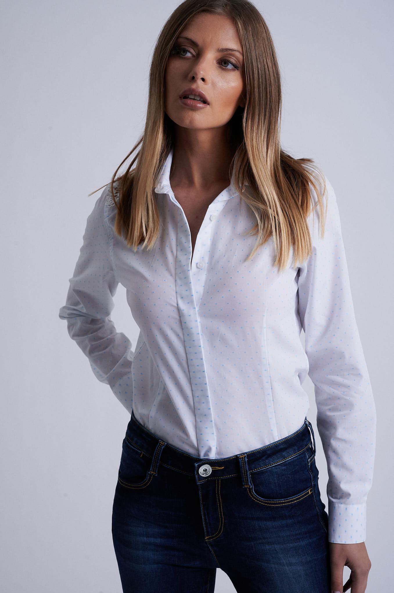Shirt Turquoise Formal Woman