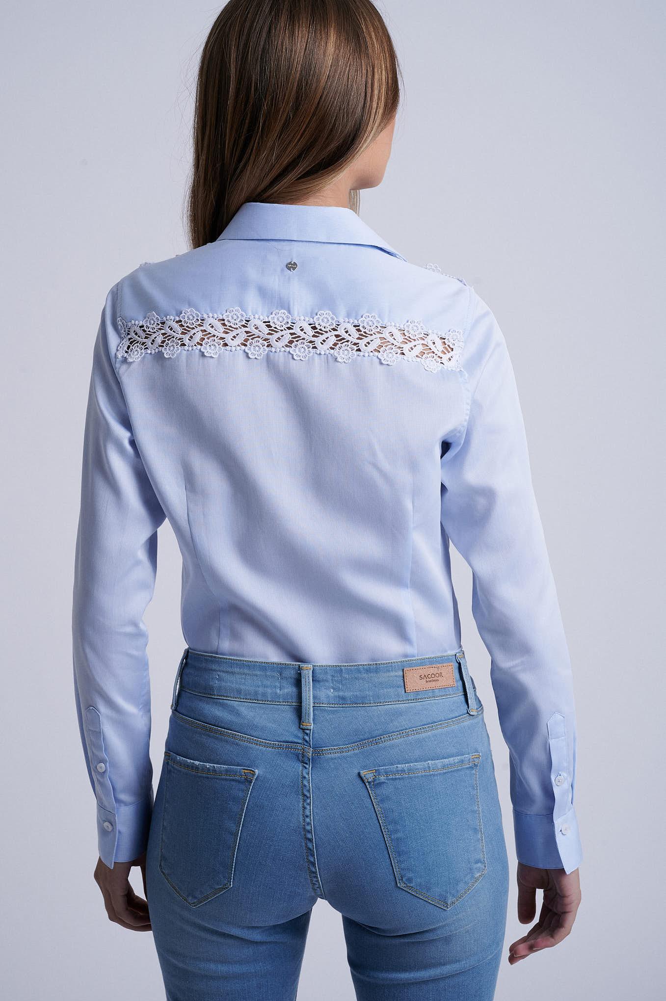Shirt Light Blue Formal Woman
