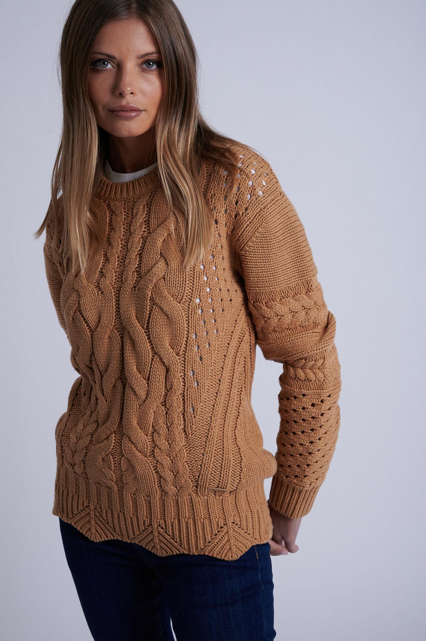 Sweater Beige Casual Woman