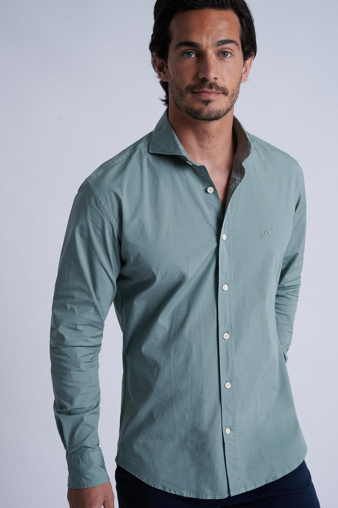 Shirt Light Green Sport Man