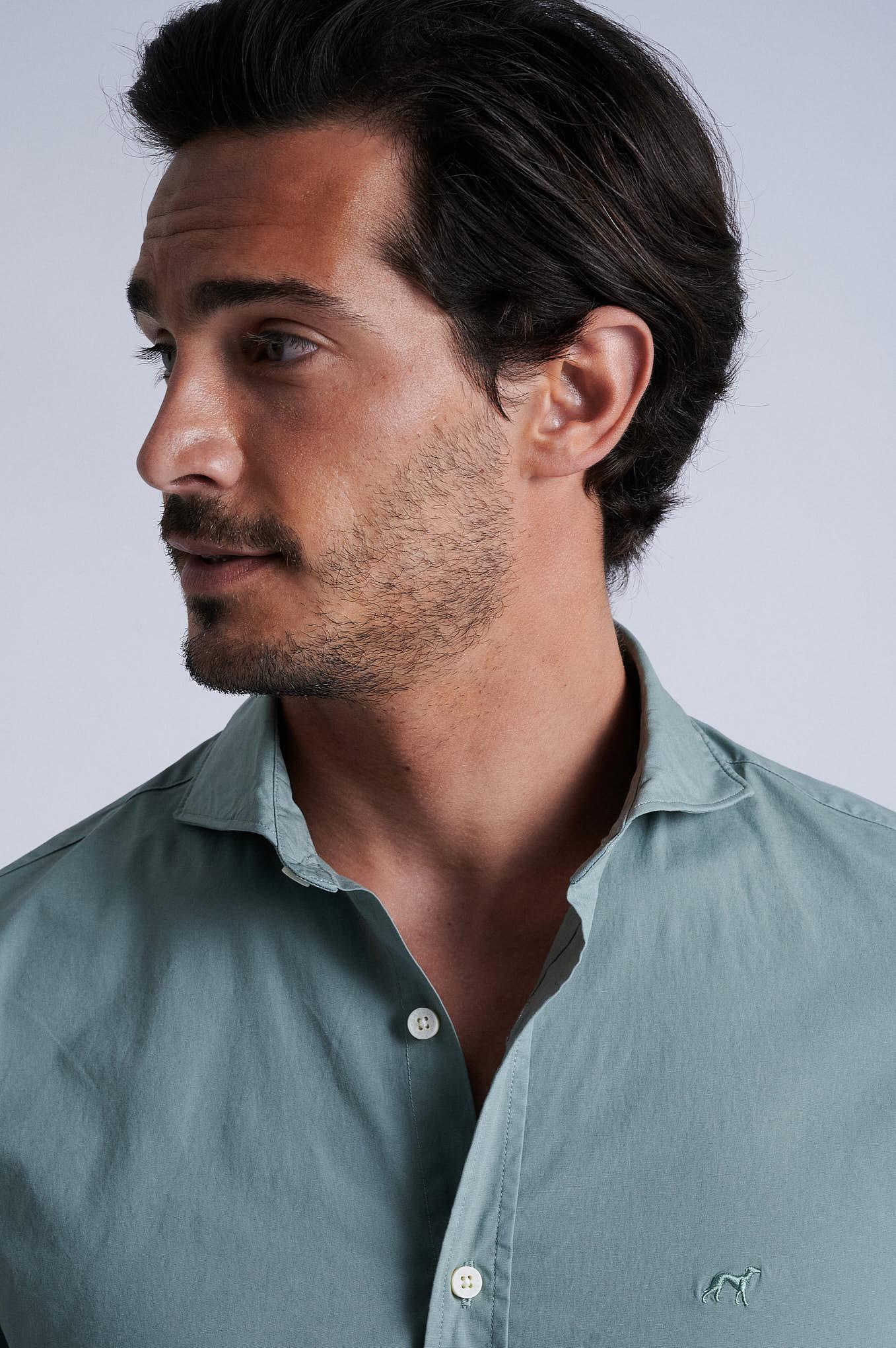 Camisa Verde Claro Sport Homem