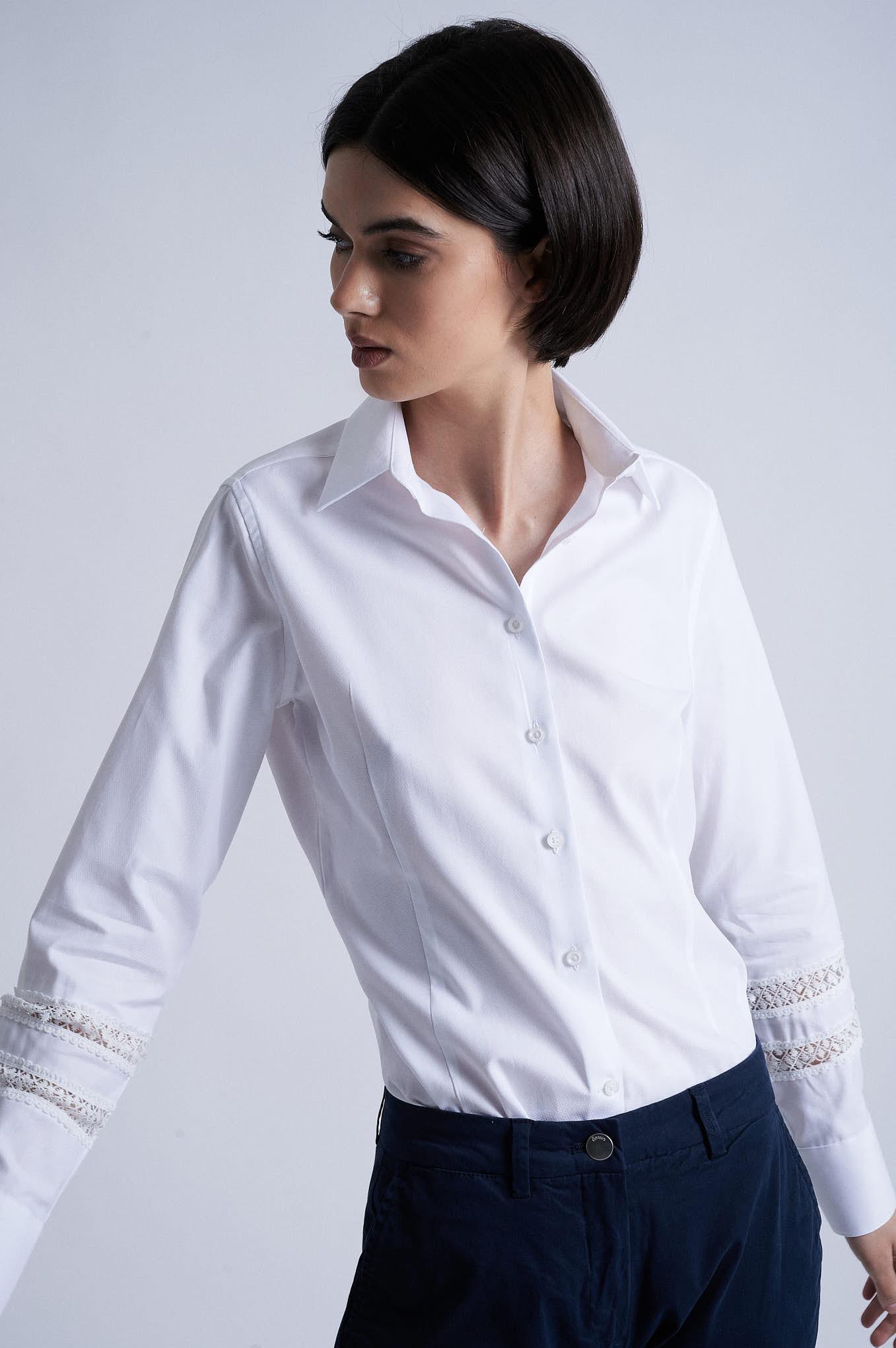 Shirt White Formal Woman