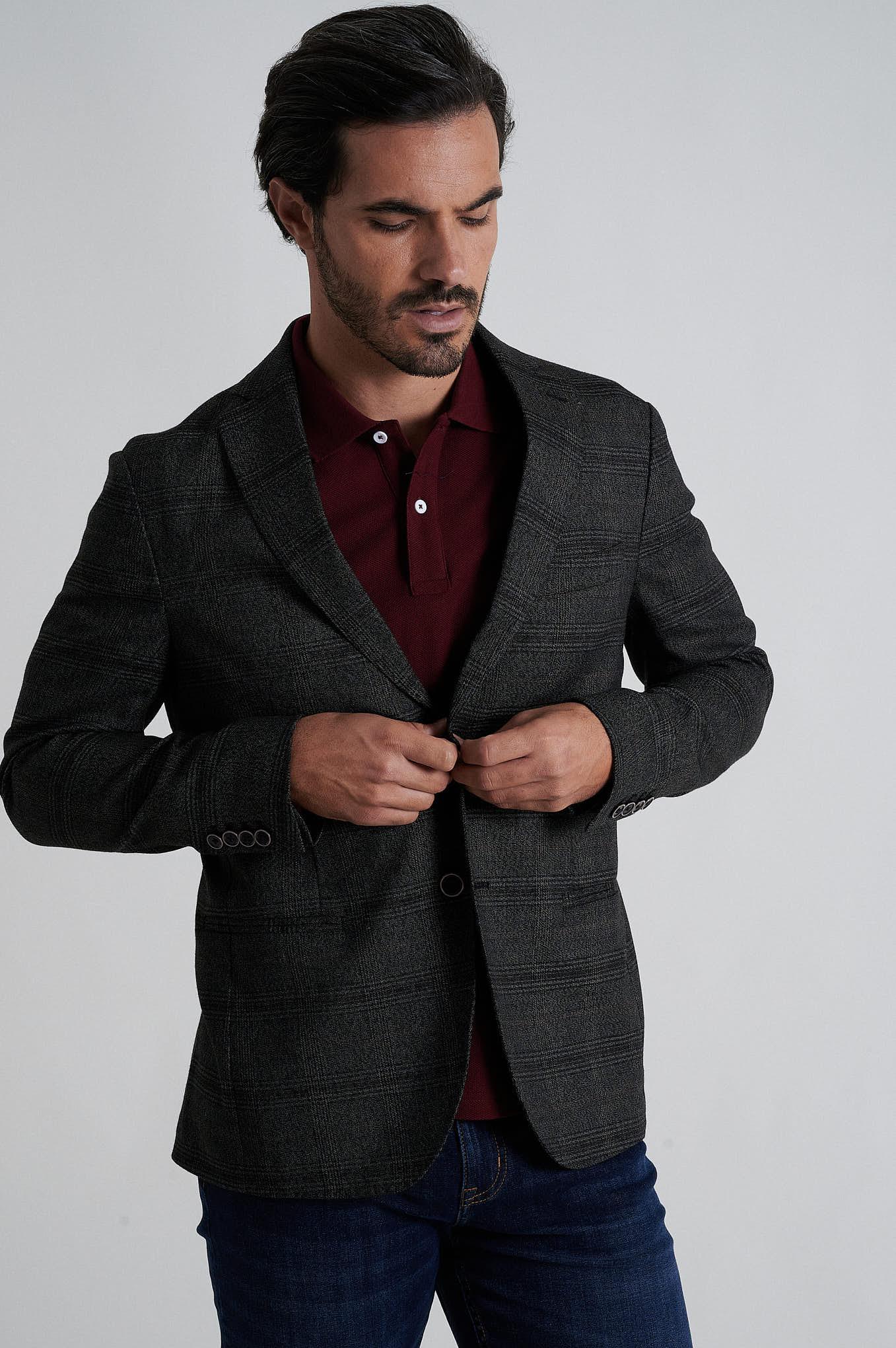 Blazer Castanho Formal Homem