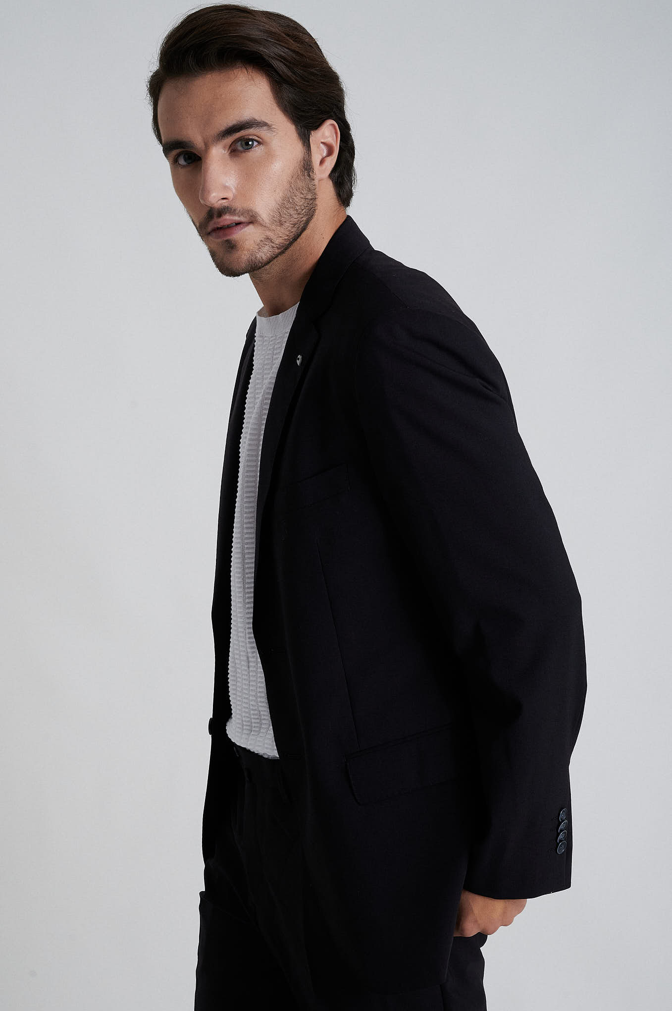 Suit Black Formal Man