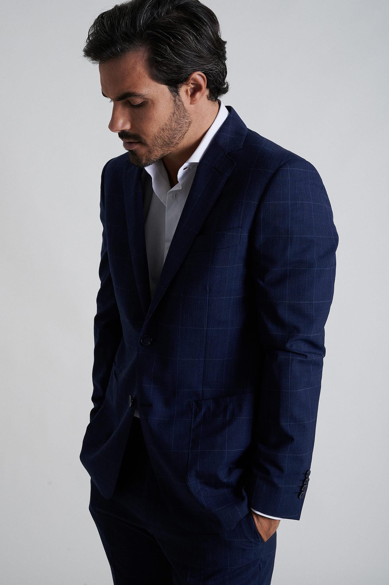 Fato Azul Escuro Formal Homem