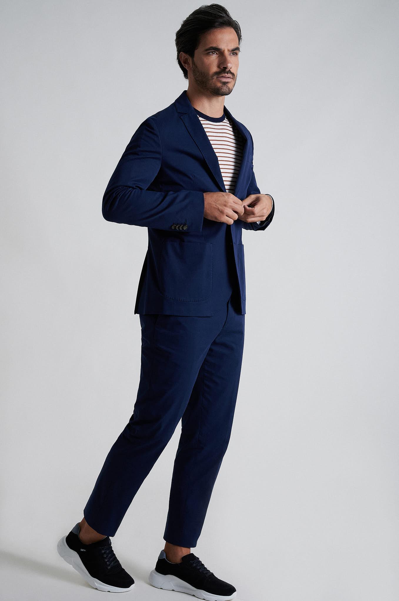 Suit Blue Formal Man