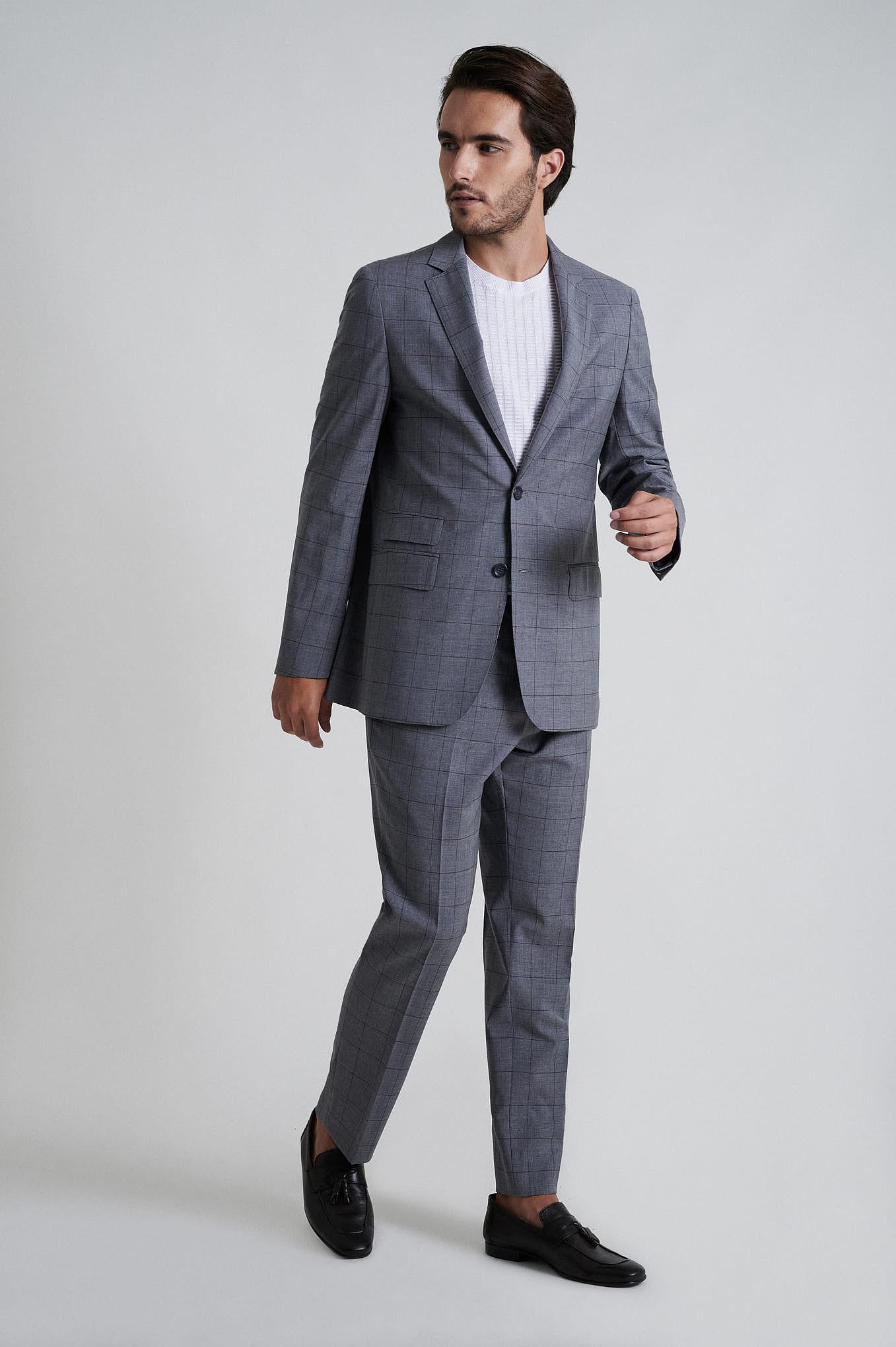 Suit Grey Formal Man