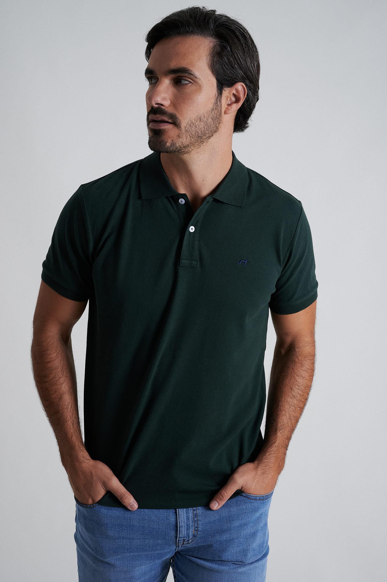 Polo Piquet Dark Green Sport Man