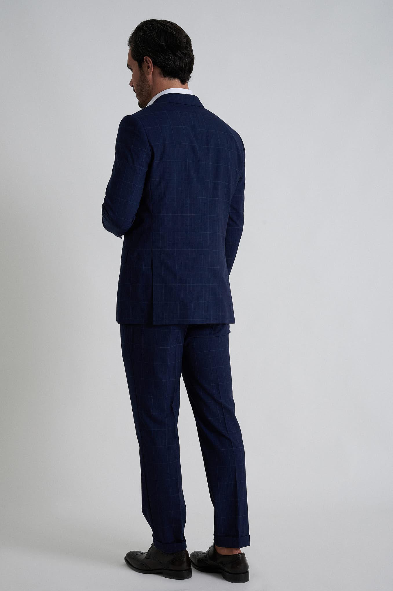 Fato com Colete Azul Escuro Formal Homem