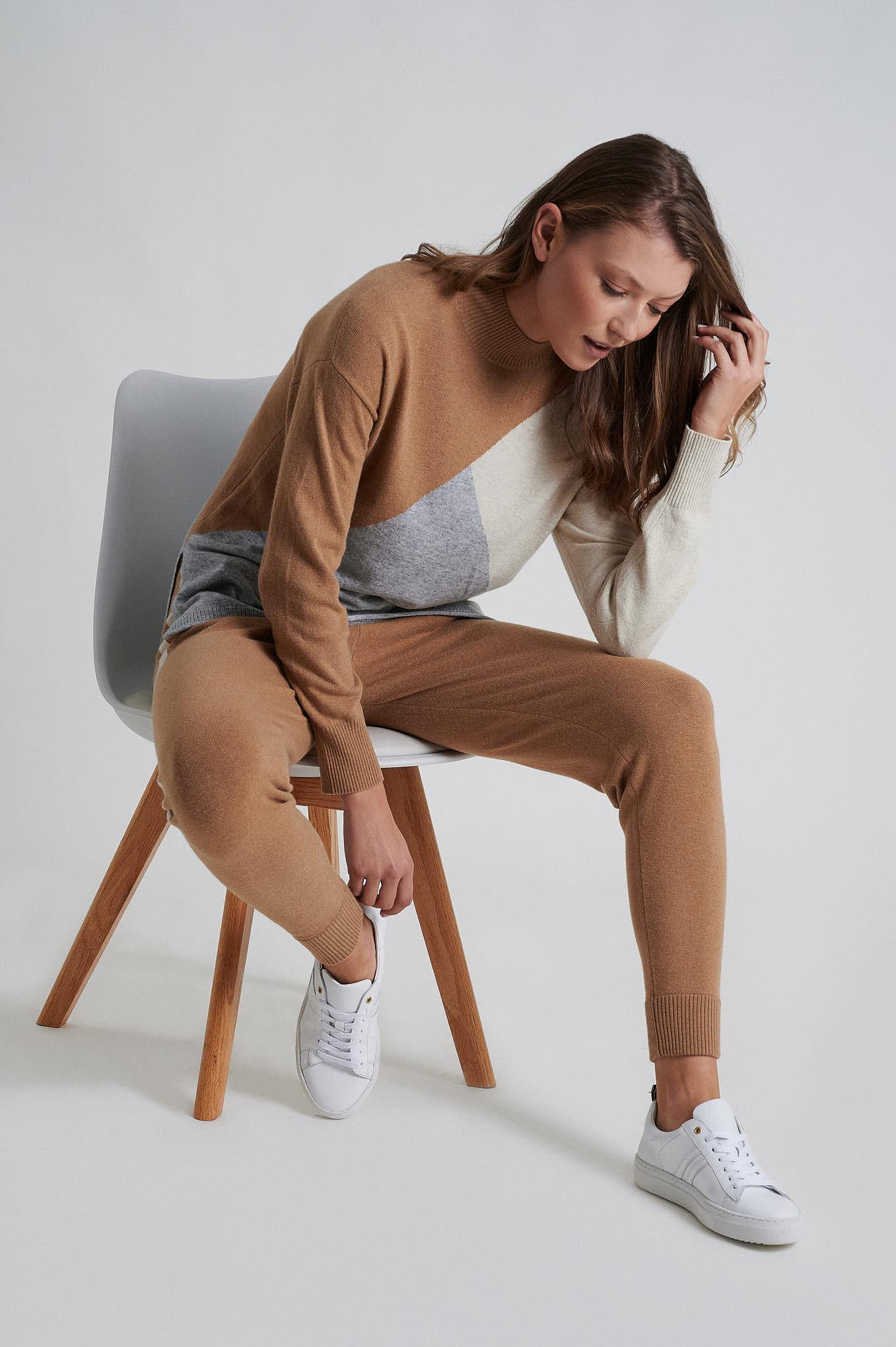 Sportswear Trousers Camel Casual Woman