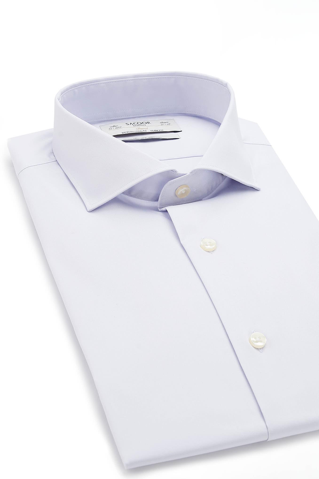 Camisa Lilás Formal Homem