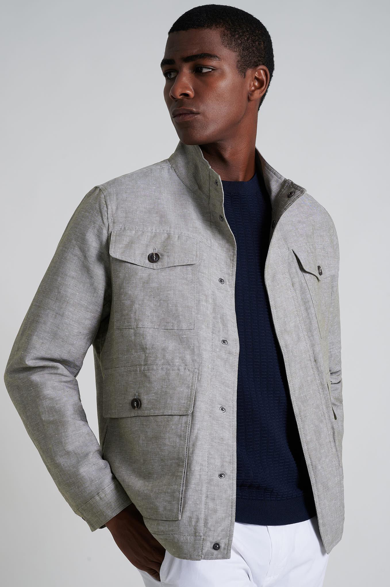 Jacket Khaki Casual Man