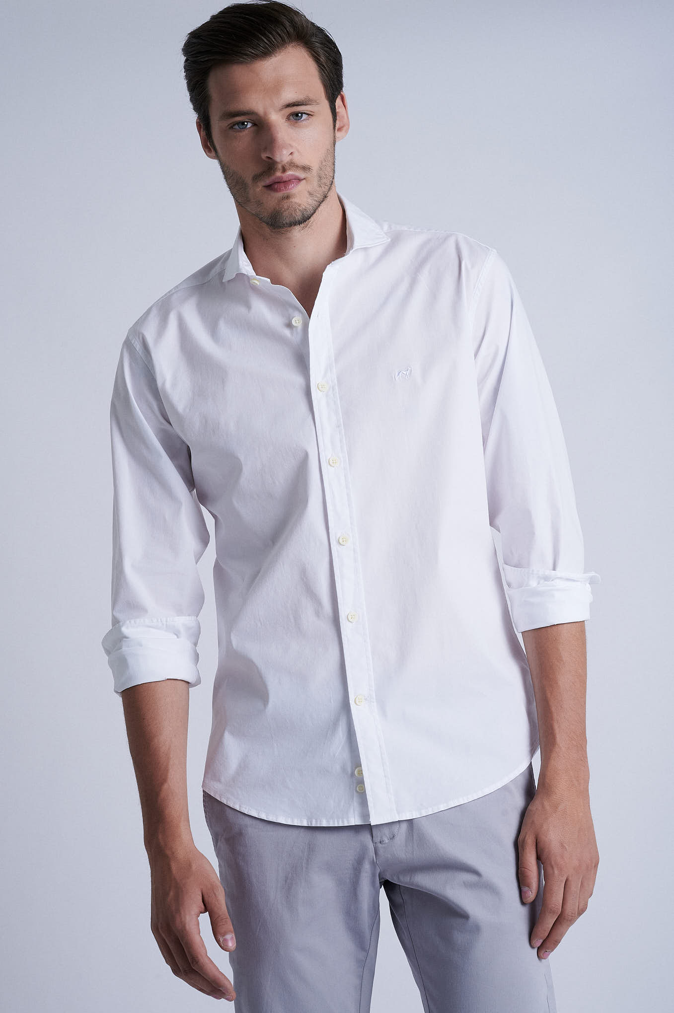 Chino Trousers Light Grey Sport Man