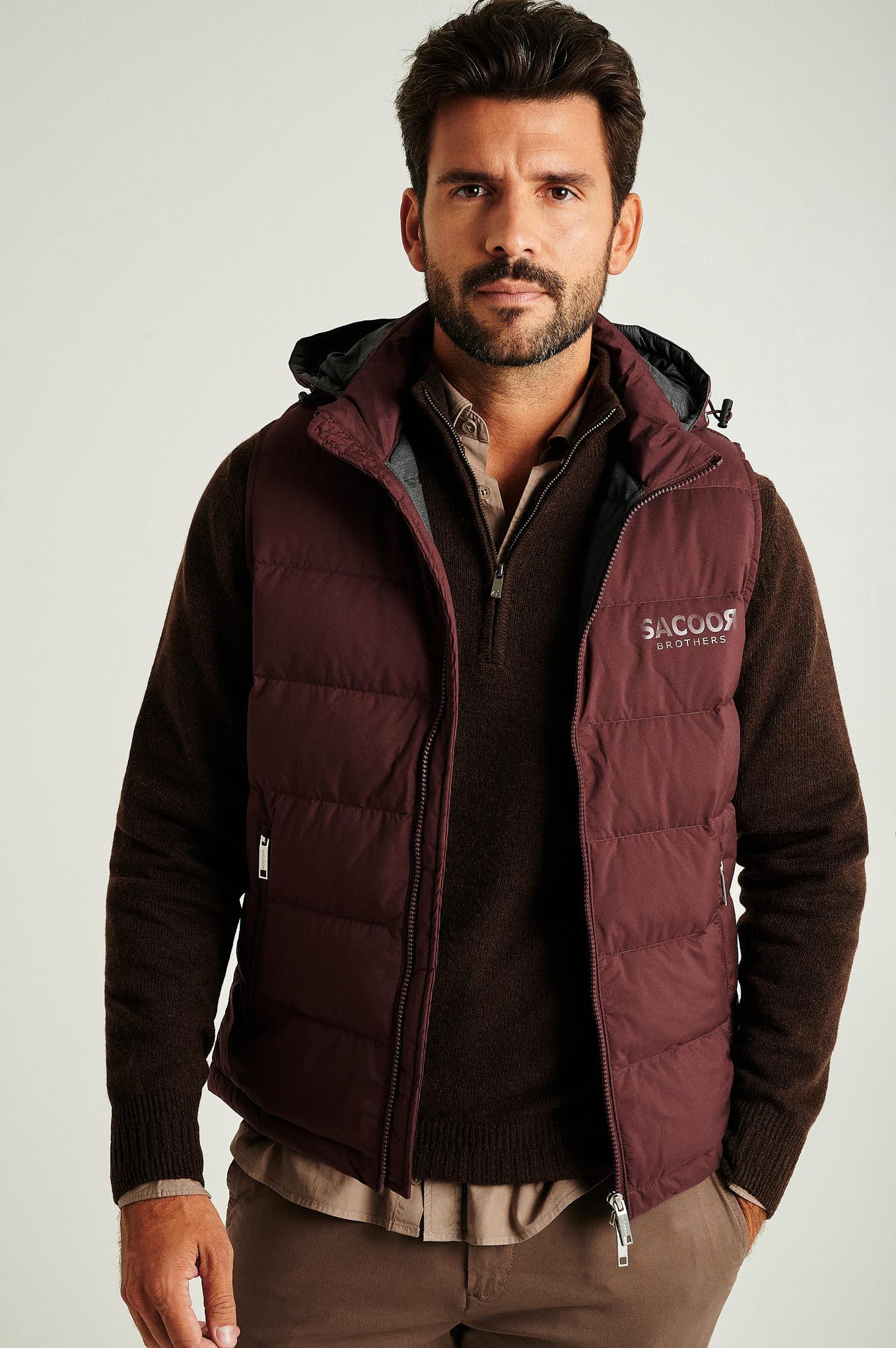 Waist Coat Bordeaux Casual Man