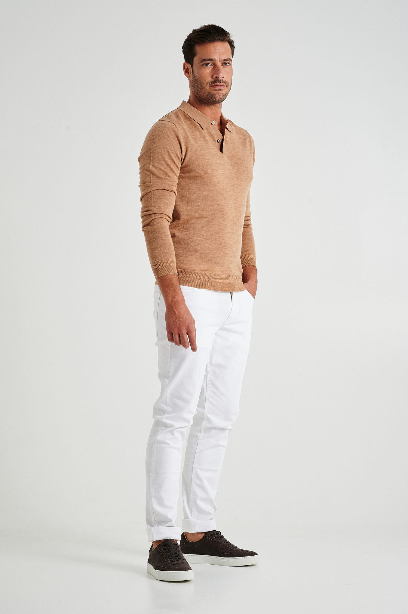 Jeans White Casual Man