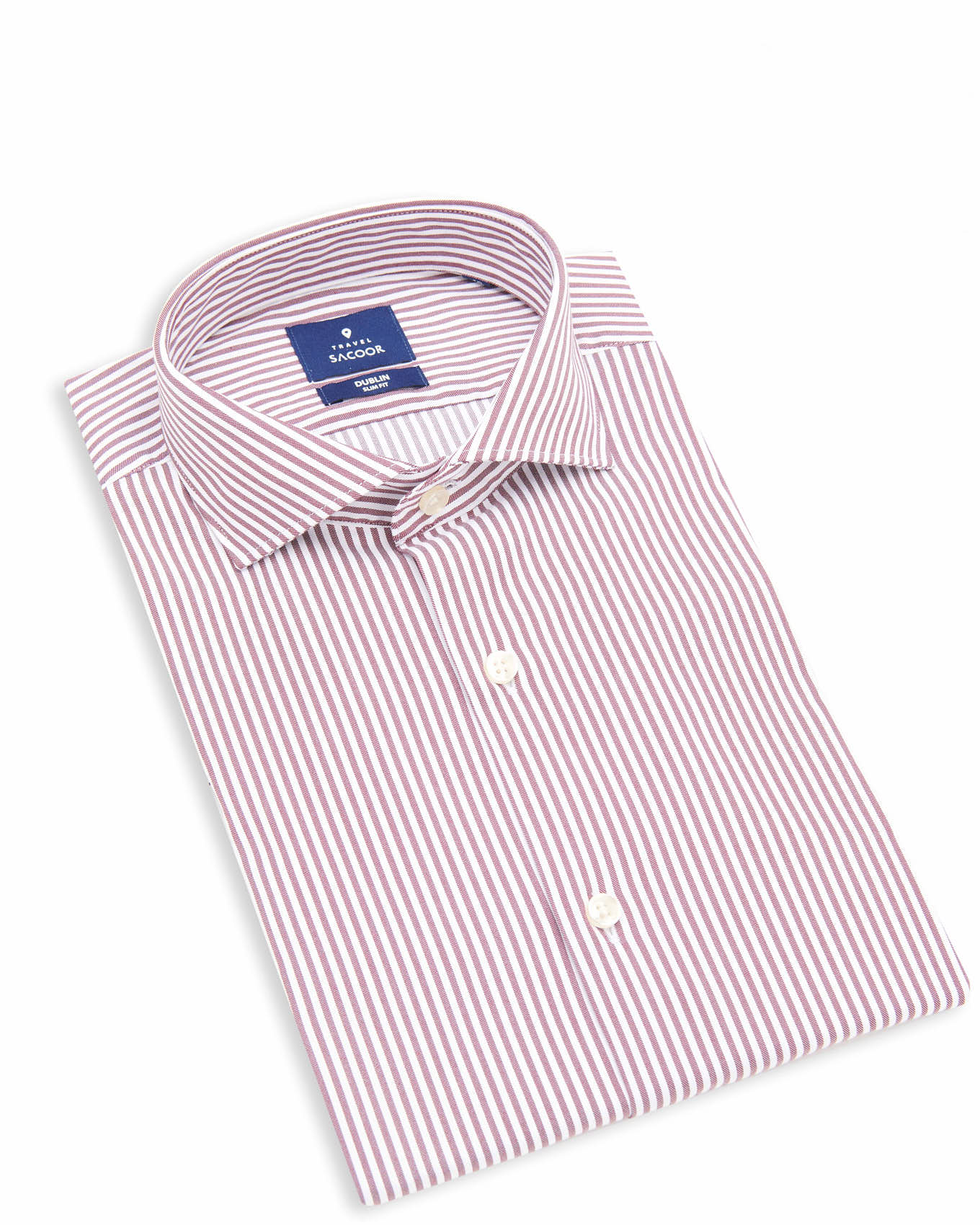 Shirt Bordeaux Formal Man