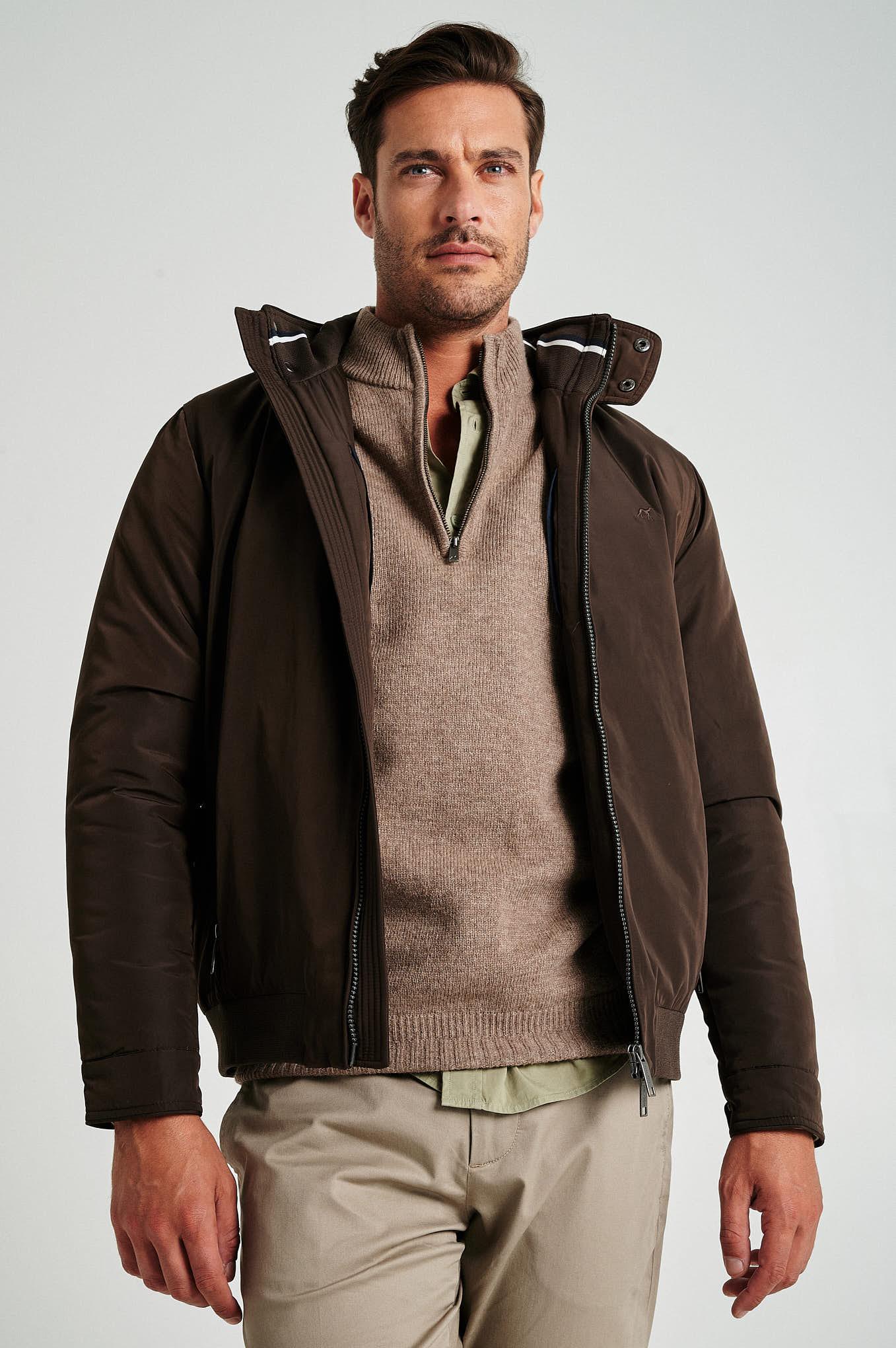 Jacket Chocolate Casual Man
