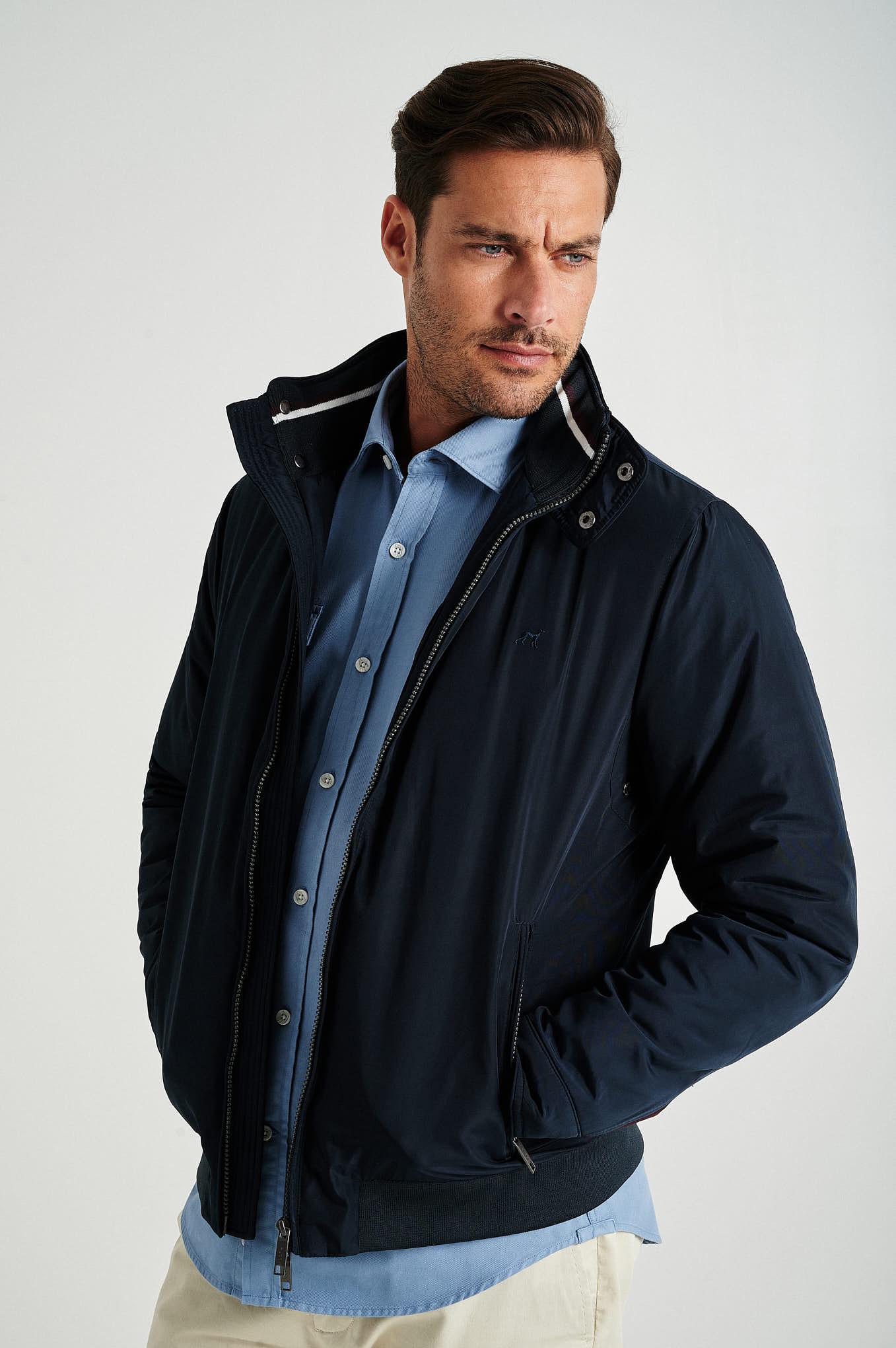 Jacket Dark Blue Casual Man