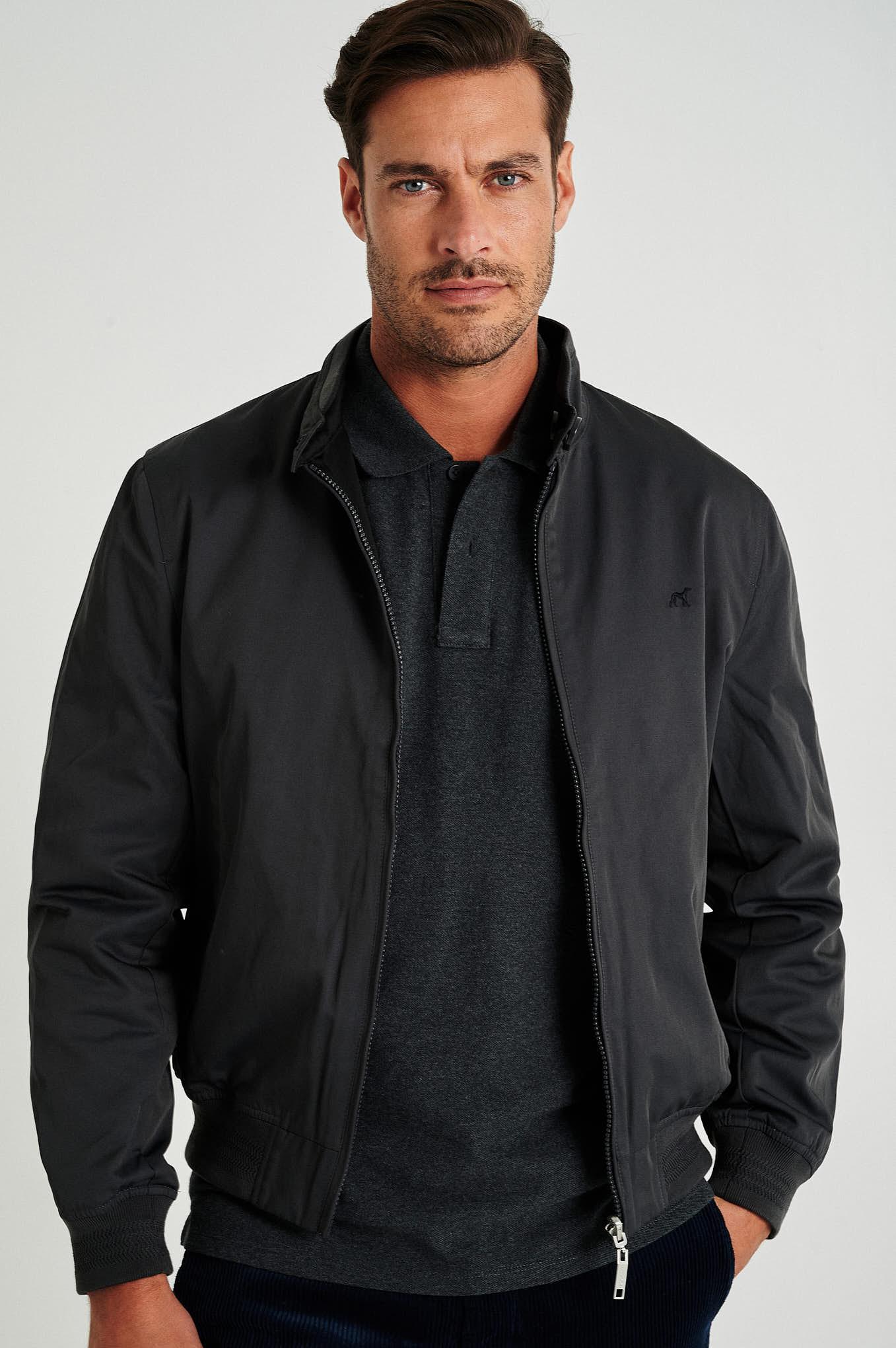 Jacket Grey Casual Man
