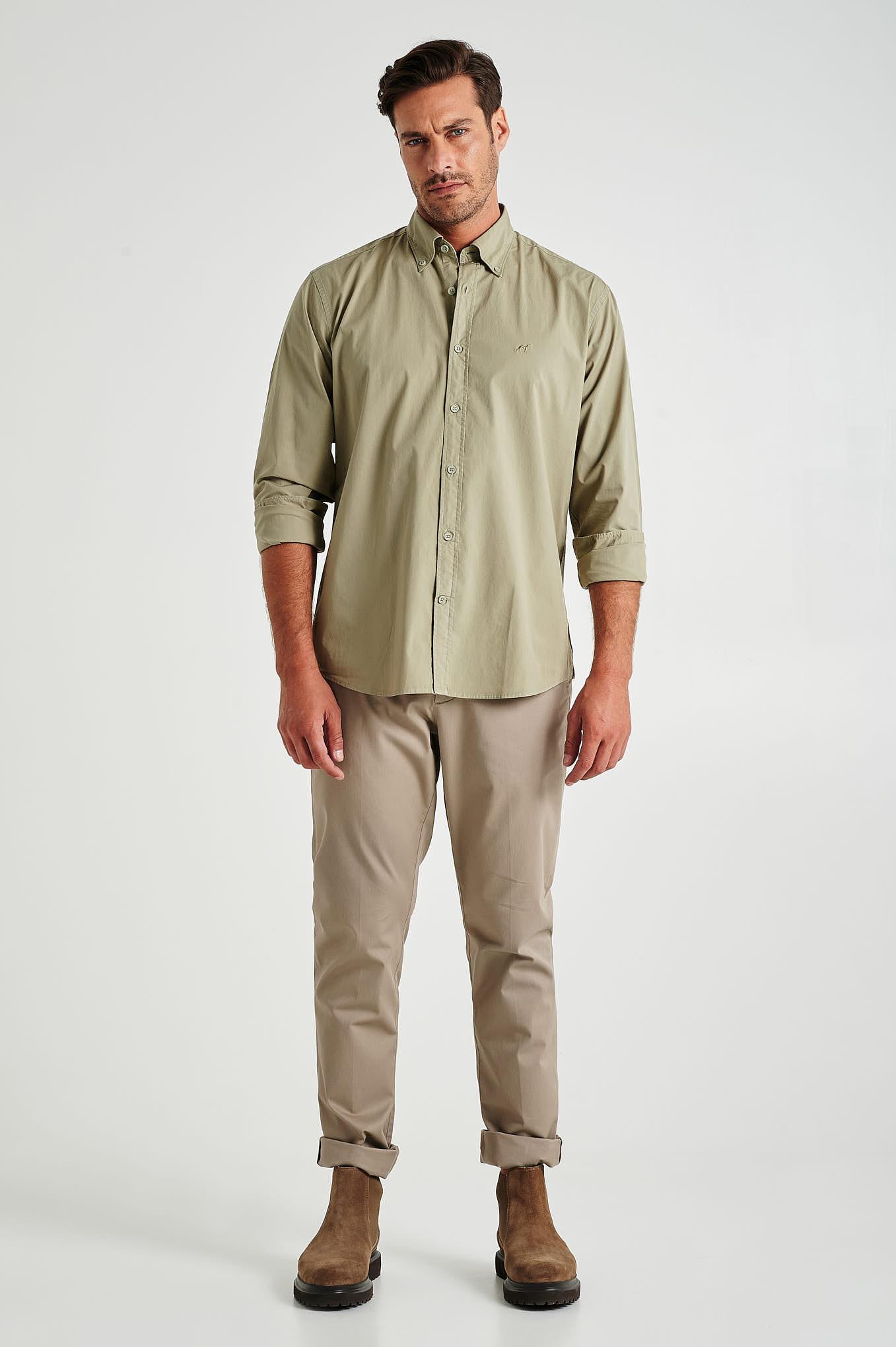 Chino Trousers Dark Beige Sport Man